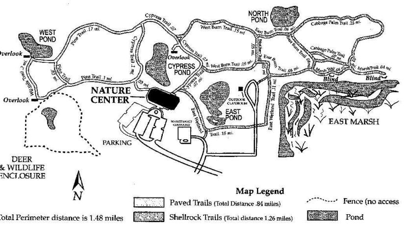 Okeeheelee Nature Trail Map