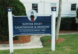 jupiter lighthouse sign