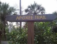 Apoxee Trail sign