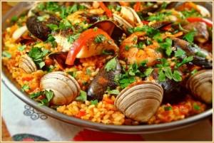 Seafood-Paella dish