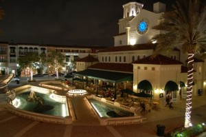 CityPlace Plaza Night