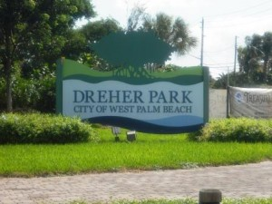 Dreher Park North sign