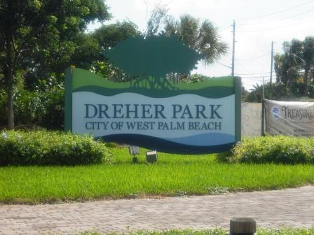 Dreher Park North sign