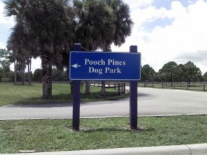 Entry Sign Pooch Pines Dog Park