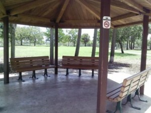 Pooch Pines Dog Park Benches