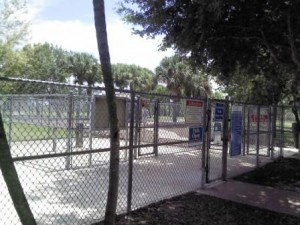 Pooch Pines Dog Park Double Gate Entry