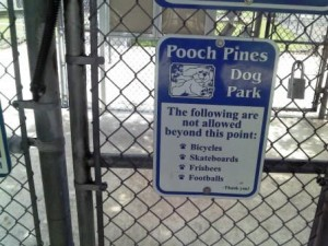 Pooch Pines Restrictions