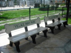 Village Paws Dog Park Benches