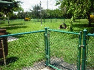 Village Paws Dog Park Entry Gate