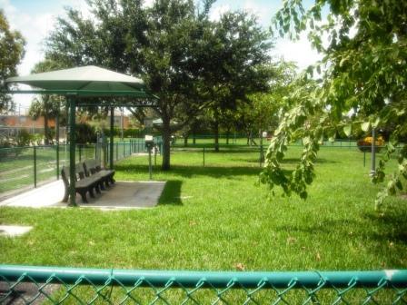 Village Paws Dog Park Front Fence