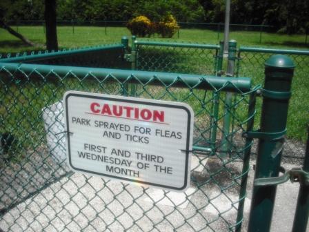 Village Paws Dog Park WPB Pesticide