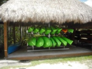 Grassy Waters Canoes Storage