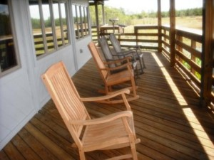 Grassy Waters Nature Center deck
