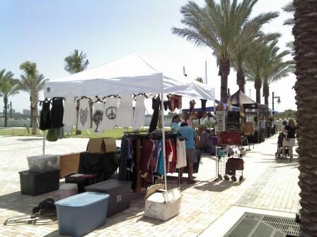 Riviera Beach Marina Greenmarket Clothes Vendor