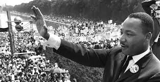 Martin Luther King waving