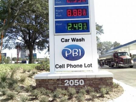 PBIA Cell Phone Lot sign