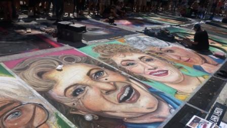 2017 LW Street Painting The Golden Girls