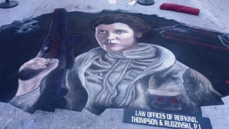 Princess Leia 2017 LW Street Painting Festival