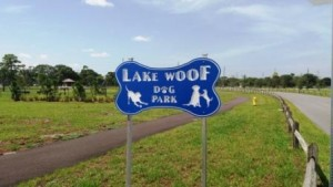 Lake Woof Dog Park John Prince Park sign