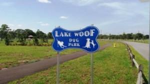 Lake Woof Dog Park John Prince Park sign