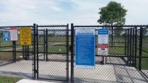 Lake Woof Dog Park gate John Prince Park