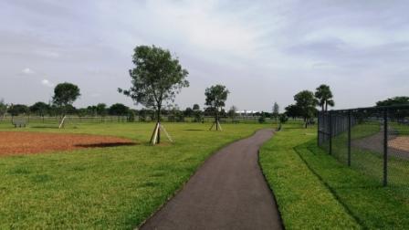 Lake Woof Dog Park paved path John Prince Park