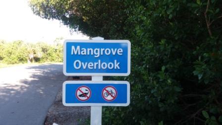 Mangrove Overlook sign Wildlife Refuger Sanibel