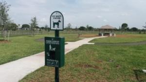 Pet Waste Station Lake Woof Dog Park John Prince Park