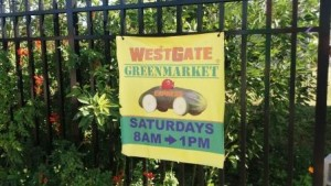 WestGate Greenmarket sign