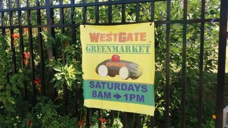 WestGate Greenmarket sign