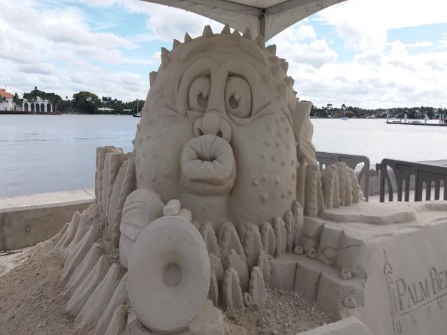 Sandiland Blowfish Sculpture 2018