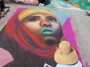 Artist at Lake Worth Street Painting Festival 2019-640x480