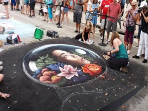 Artist at work LW Street Painting Festival-640x480