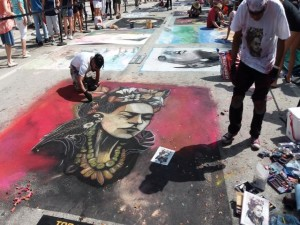 Artists Painting at LW Street Painting 2019-640x480