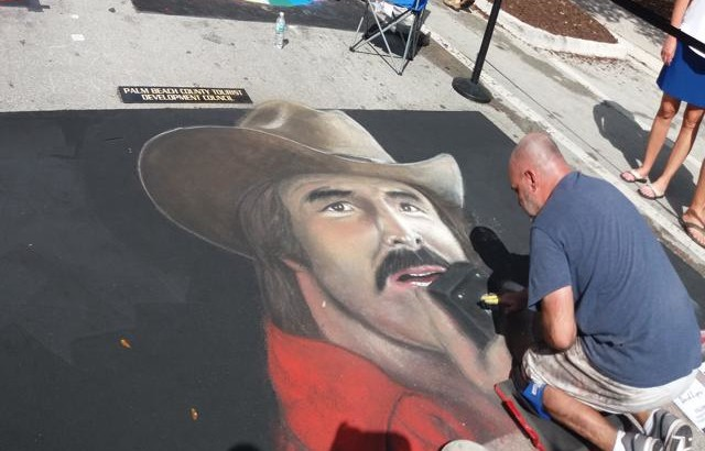 Burt Reynolds Lake Worth Street Painting 2019-640x480