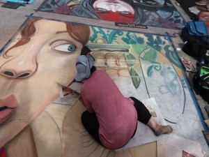 Lake Worth Street Painting Artist at work-640x480