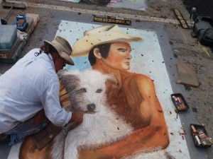 Work in progress Lake Worth Street Painting Festival-640x480