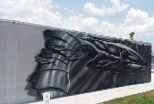 Shark Wake Park mural