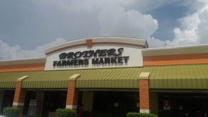 Brothers Farmers Market Sign